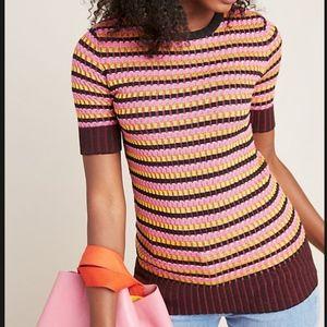 Anthropologie Kelsey Striped Sweater Tee